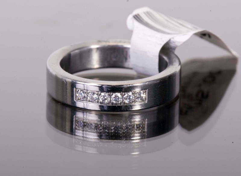Lady's Ring Silver Stainless TENO SIZE 5.5
