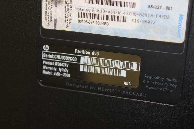 HP Pavilion DV5 2.27 GHz Intel i5, 750GB HD, 6GB RAM