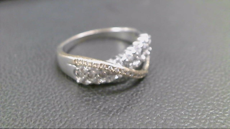 Lady's Diamond Fashion Ring 47 Diamonds .99 Carat T.W. 14K White Gold 4.7g