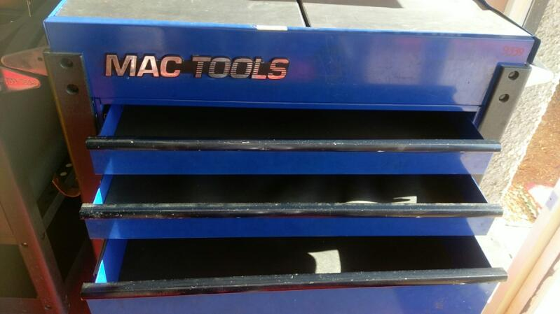 MAC TOOLS TOOL BOX ON WHEELS MODEL MB190UC 3 DRAWER ROLLER TOOL BOX