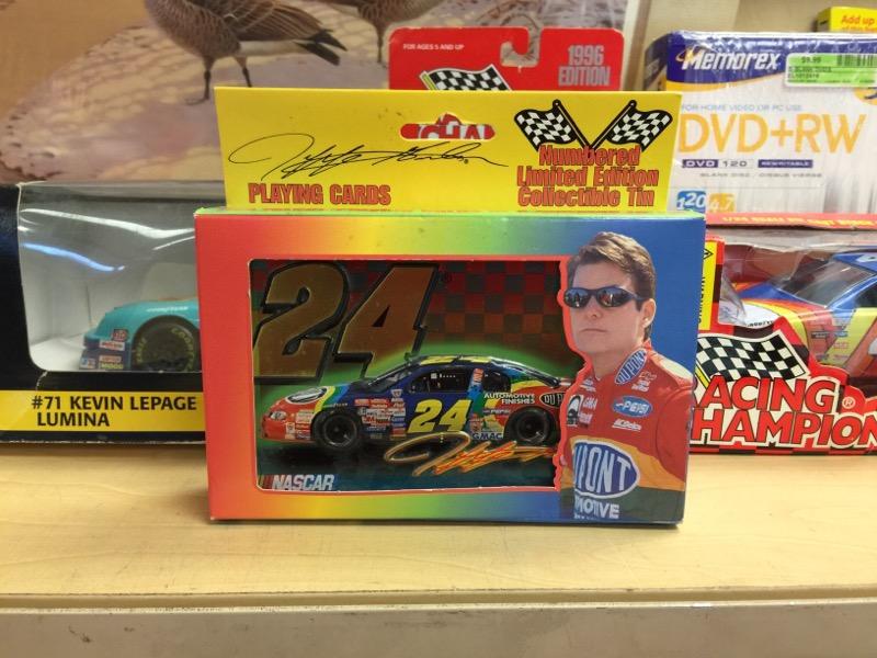 Jeff Gordon Sports Memorabilia Playing Cards