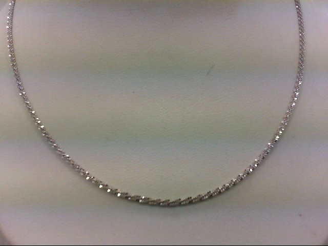 "18"" Gold Chain 14K White Gold 4.4g"