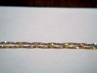 """16"""" Gold Rope Chain 14K Yellow Gold 1g"""