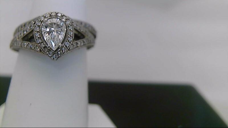 Lady's Diamond Wedding Set .51ct vs1 f pear 2 1/4 Cttw. 14K White Gold 8.2g