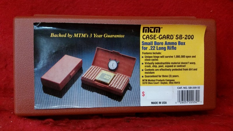 MTM Case-Gard SB-200 Small Bore Ammo Box 22lr