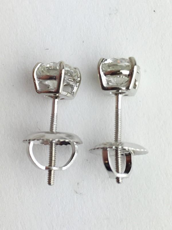 14K WHITE GOLD DIAMOND STUD EARRINGS .70CTW