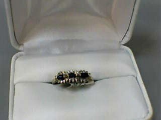 Sapphire Lady's Stone & Diamond Ring 26 Diamonds .130 Carat T.W.