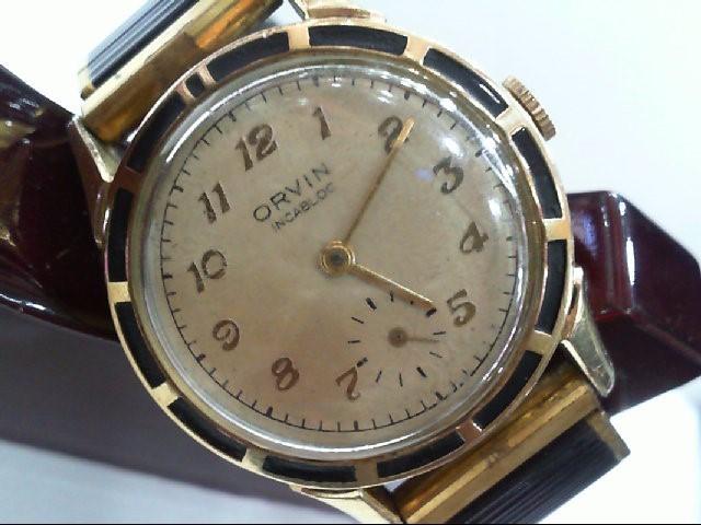 ORVIN Gent's Wristwatch INCABLOC