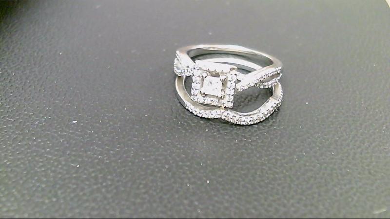 Lady's Diamond Wedding Set 77 Diamonds .96 Carat T.W. 14K White Gold 6.1g