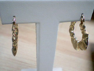 Gold Earrings 10K Yellow Gold 2.2g