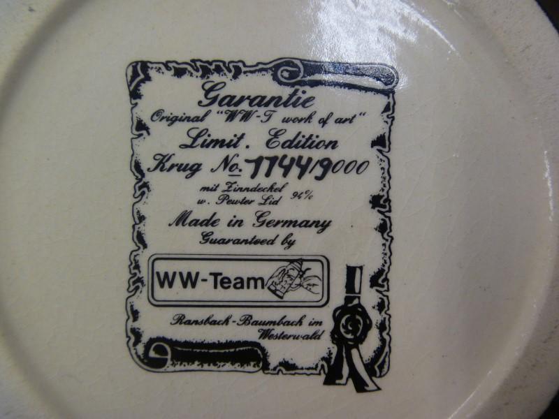 WW-TEAM BRAUHAUS BEER STEIN (7744/9000)
