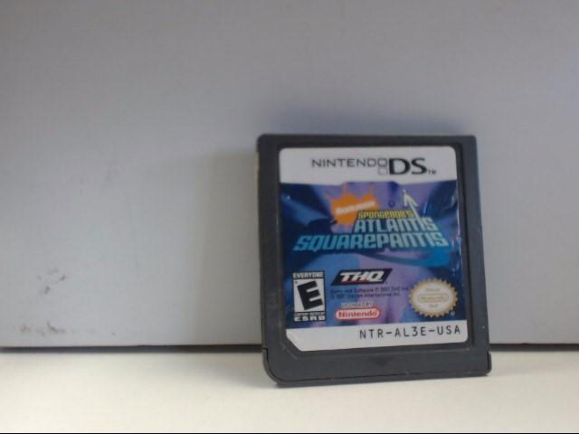 NINTENDO DS SPONGEBOB'S ATLANTIS SQUAREPANTIS Game Only