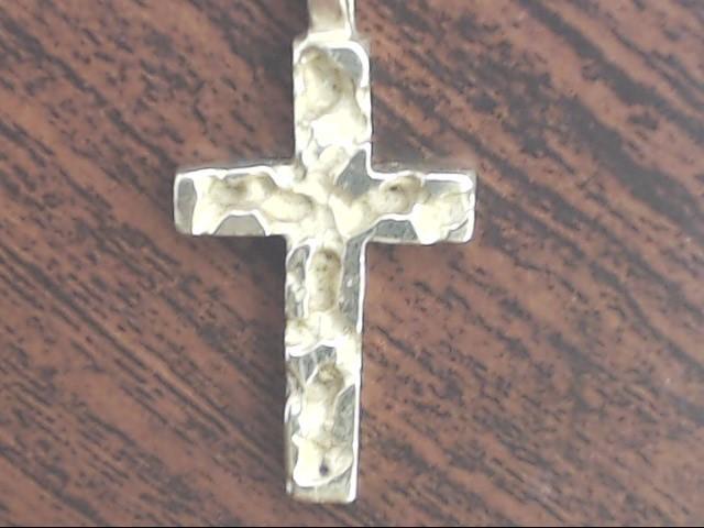 VINTAGE NUGGET CROSS PENDANT CHARM SOLID REAL 14K GOLD JESUS CHRIST
