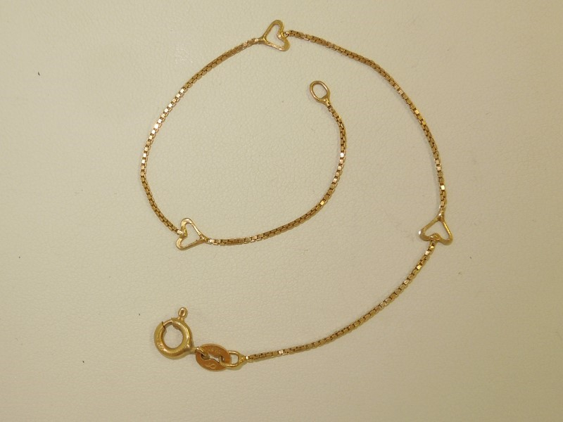 Gold Bracelet 14K Yellow Gold 1.2g