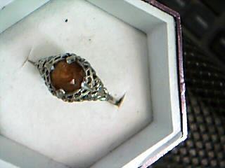 Lady's Gold Ring 10K White Gold 1.3g
