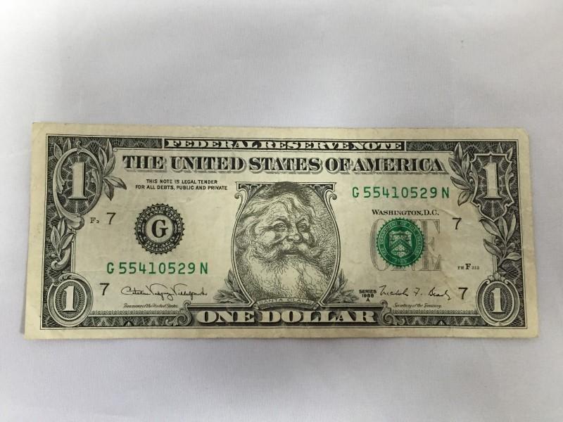 UNITED STATES 1988 A SMILING SANTA DOLLAR