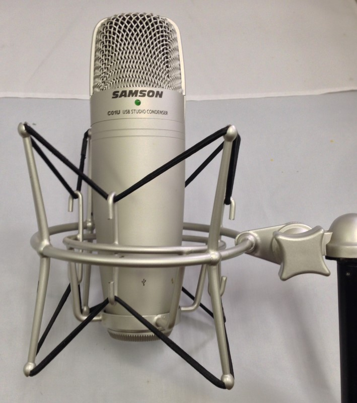 SAMSON MODEL USB MICROPHONE MODEL C01U, COMES WITH PROLINE MICROPHONE STAND AND