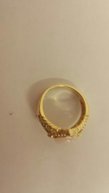 White Stone Lady's Stone Ring 14K Yellow Gold 3.4dwt Size:8