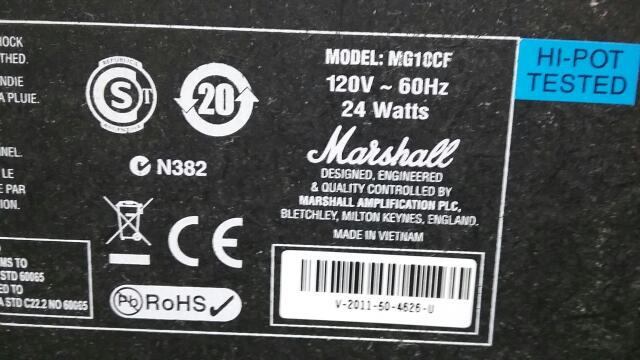 MARSHALL Electric Guitar Amp MG10CF