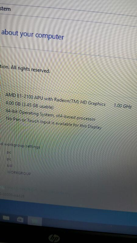 "HP 15-g019wm (Win 10, 15.6"", 500gb, 4gb, AMD E1 @ 1.00ghz)"