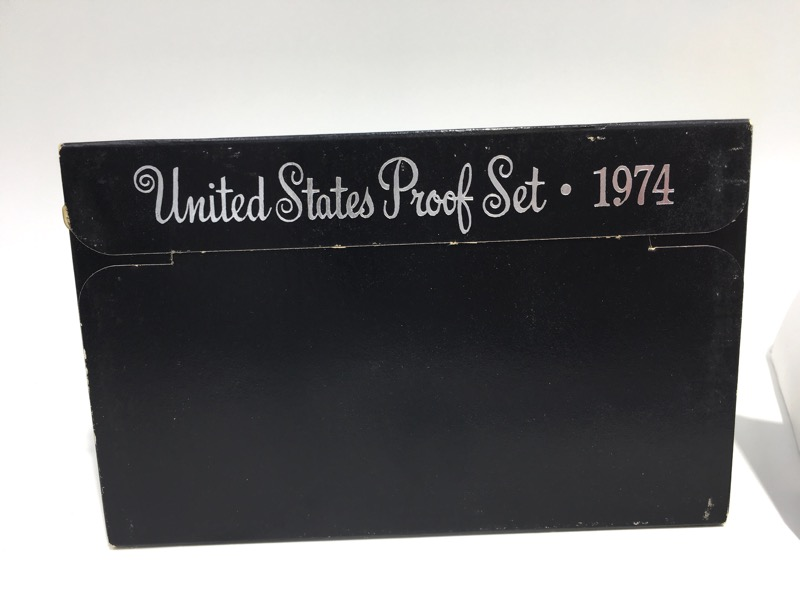 1974 S United States Proof Set - Six Coins - In Box Display