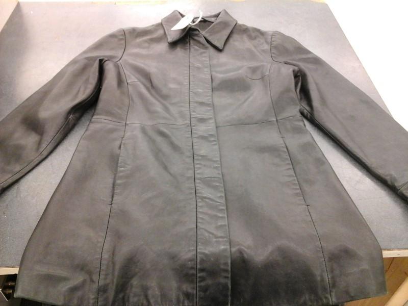 BANANA REPUBLIC Coat/Jacket BLACK LEATHER JACKET