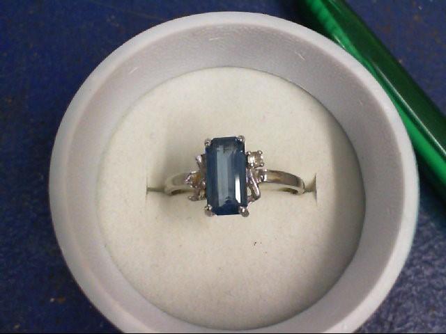 Blue Stone Gold-Stone Scrap 10K White Gold 2g
