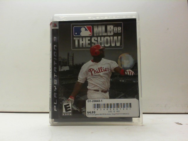 SONY Sony PlayStation 3 Game MLB 08 THE SHOW
