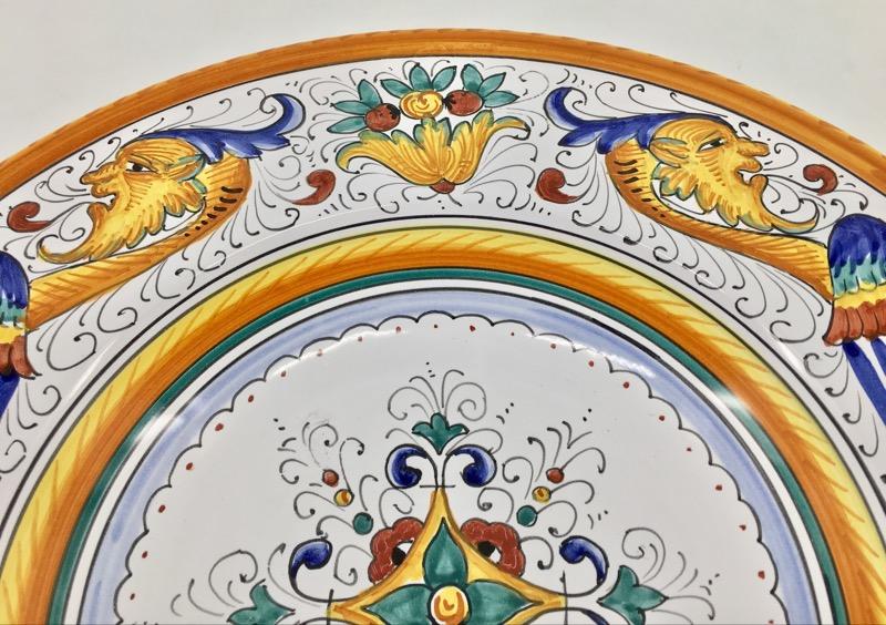"Orvieto Collectible Plate 14"" Phoenix Bird"