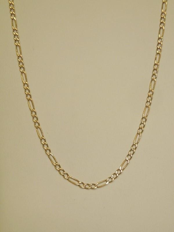 """16"""" Gold Figaro Chain 14K Yellow Gold 3.9g"""