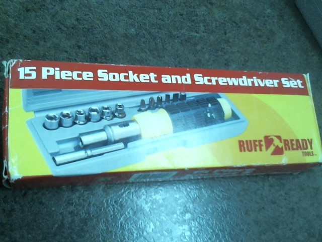15 PIECE SOCKET AND SCREW DRIVER SET!