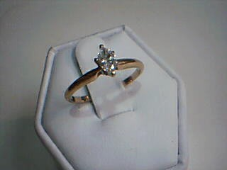 Lady's Diamond Solitaire Ring .25 CT. 14K Yellow Gold 1.7g