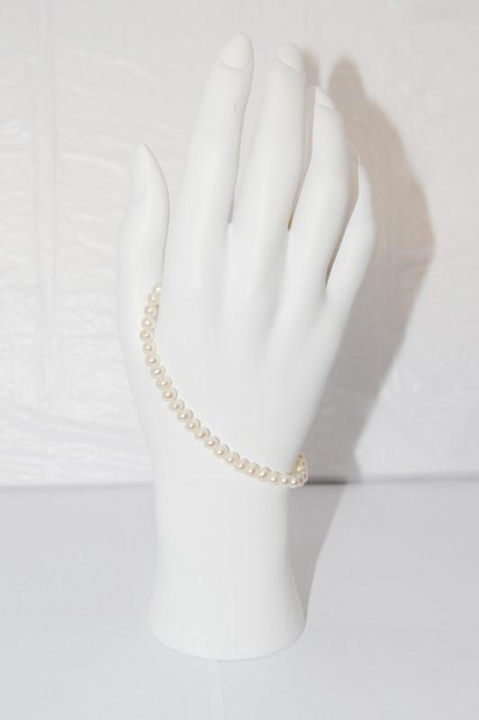 Pearl Gold-Stone Bracelet 10K Yellow Gold 5.5g