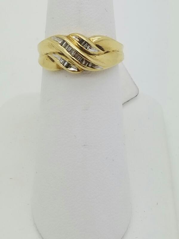 DIAMOND Lady's Diamond Fashion Ring 12 Diamonds .36 Carat T.W. 10K Yellow Gold