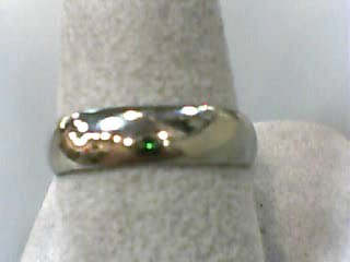 Gent's Gold Wedding Band 10K White Gold 2dwt Size:8