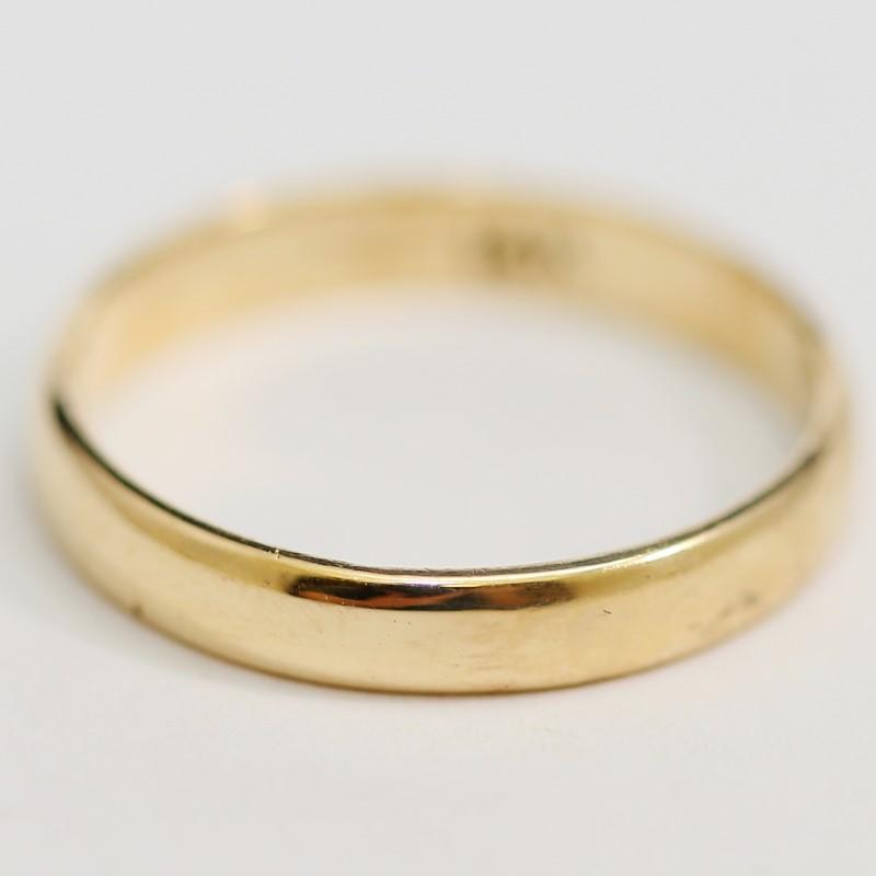 14K Yellow Gold Men's Wedding Band Matte Comfort Fit Size 9.8