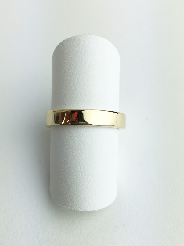 Gent's Gold Wedding Band 14K Yellow Gold 3.9g Size:7