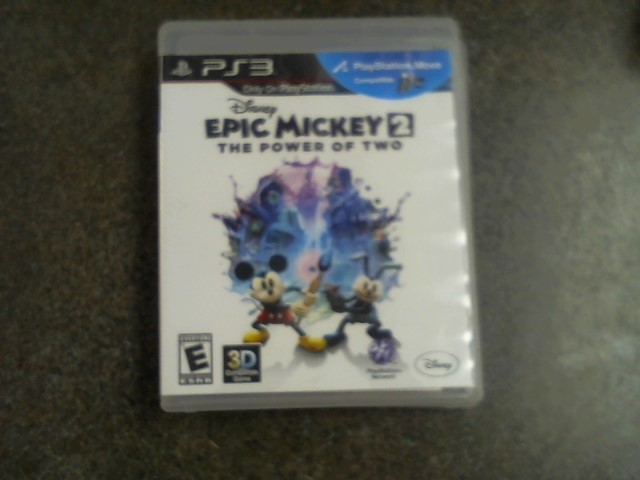 SONY Sony PlayStation 3 Game EPIC MICKEY 2