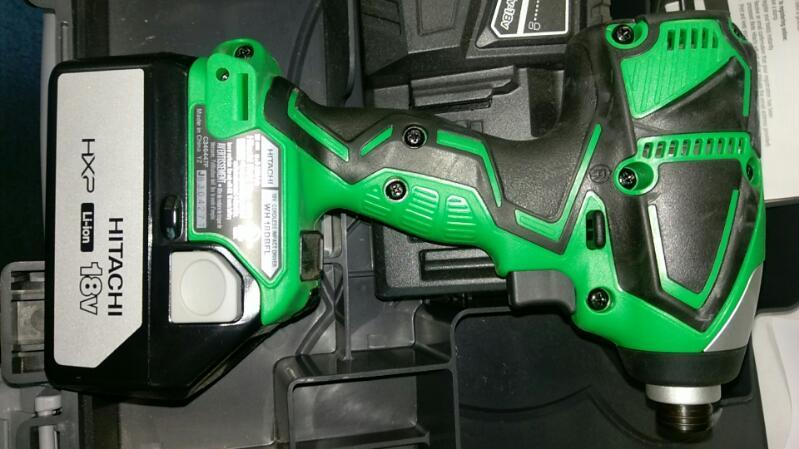 HITACHI COMBO SET CORDLESS HAMMER DRILL DV18DBFL/CORDLESS IMPACT DRIVER WHDBFL