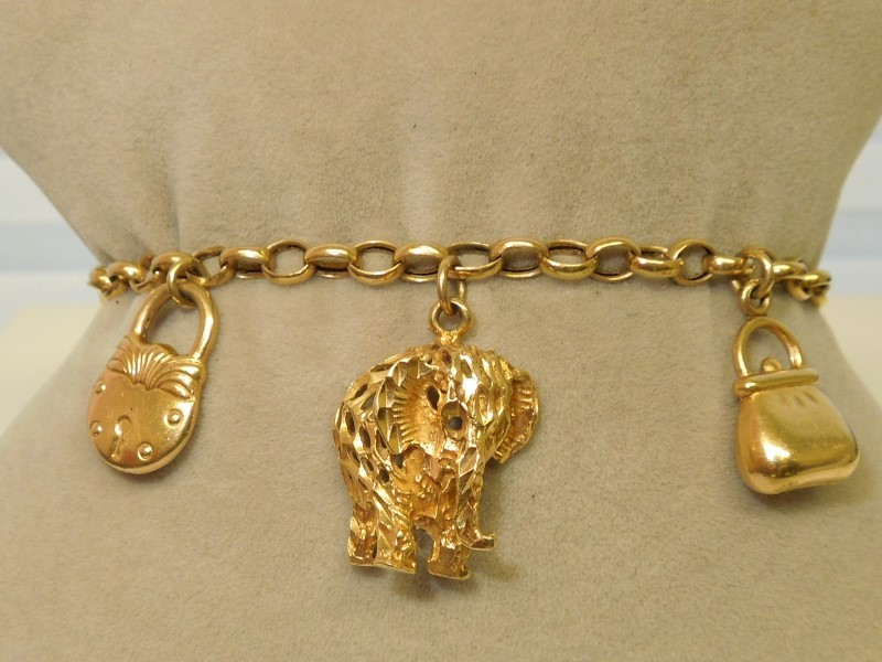Gold Bracelet 14K Yellow Gold 11.8g