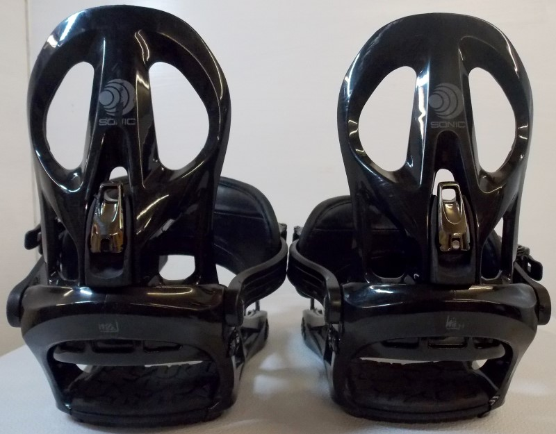 K2 SONIC SNOWBOARD BINDINGS, LARGE, BLACK