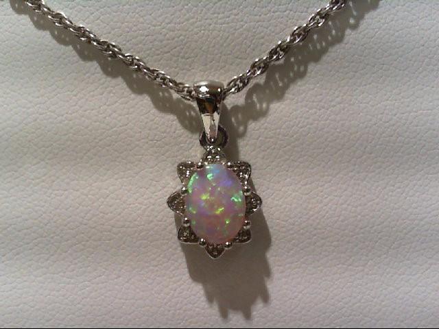 Opal Silver-Stone Pendant 925 Silver 4.1g