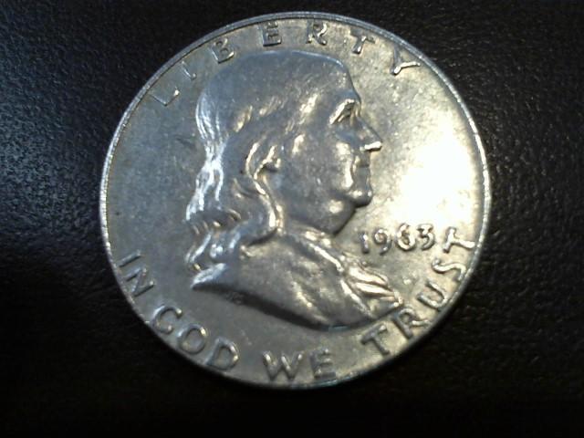 UNITED STATES Silver Coin 1963 FRANKLIN HALF DOLLAR
