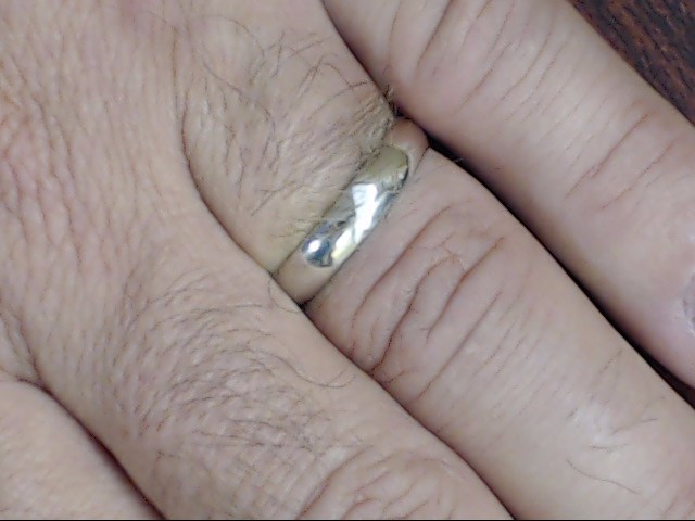 VINTAGE CLASSIC PLAIN WEDDING RING BAND SOLID 14K WHITE GOLD SZ 9.75