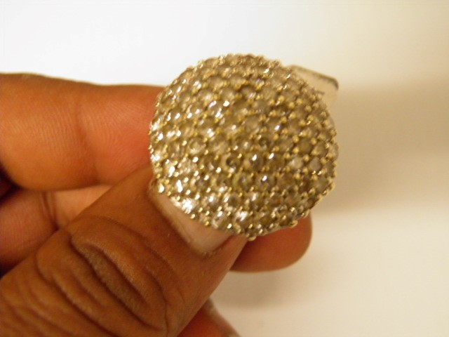Synthetic Cubic Zirconia Lady's Stone Ring 10K Yellow Gold 9.9g