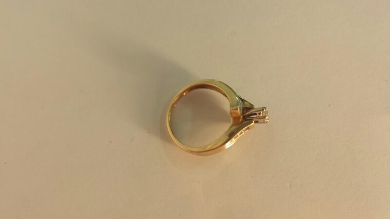 14K-Y/G Diamond Engagement Ring