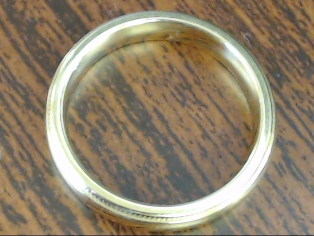 ARTCARVED BEADED EDGE CLASSIC WED RING BAND SOLID 14K GOLD 5g SIZE 6