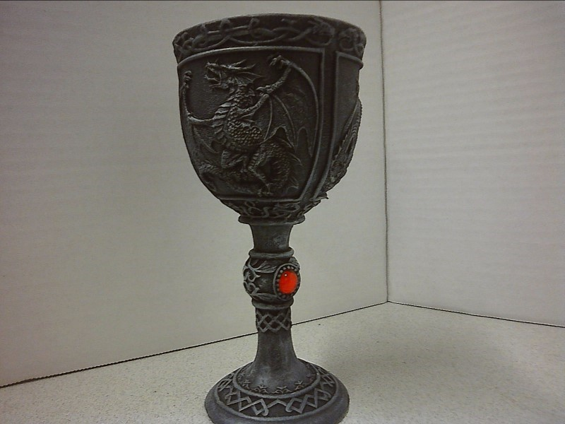 """MISC COLLECTIBLES NEW MISC NEW MISC ACK TRADING 94046; DRAGON CANDLE HOLDER 5.7"""""""