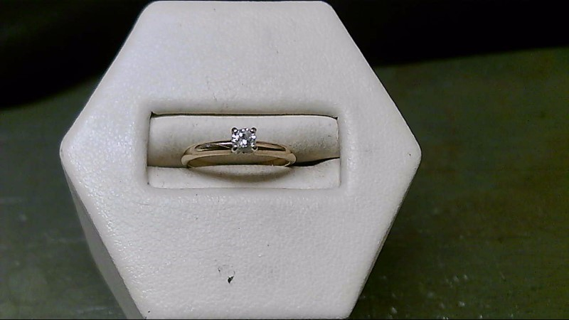 Lady's Diamond Engagement Ring .06 CT. 10K Yellow Gold 1g Size:2