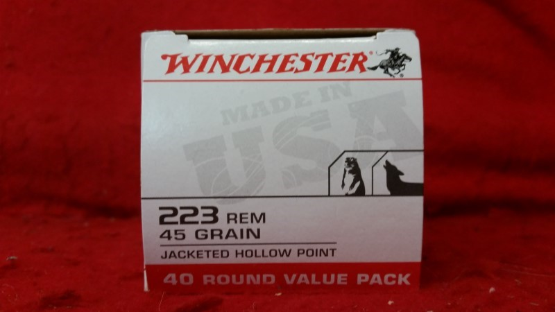 Winchester 223 Rem 45gr JHP - 40rd Value Pack